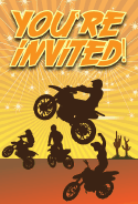Dirt Bike Invitation