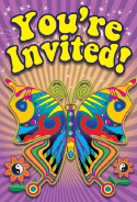 60s Butterfly Invitation