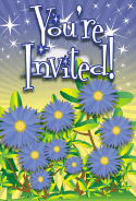 Aster Flower Invitation