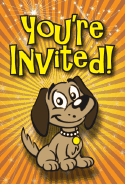 Brown Puppy Invitation