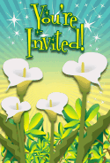 Calla Lily Flower Invitation