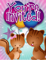 Chipmunks Small Invitation