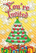 Christmas Tree Invitation