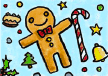 Christmas Party Invitation with Gingerbread Man (small)