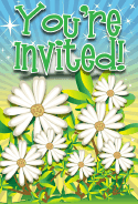 Daisy Flower Invitation
