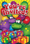 Dinosaur Gifts Invitation