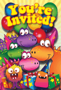 Dinosaurs Monsters Invitation