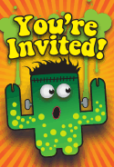 Frankenstein Monster Halloween Invitation