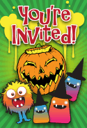 Jack O Lantern Halloween Party Invitation