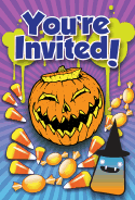 Halloween Candy Party Invitation