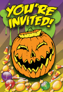 Halloween Jack-o-Lantern Invitation