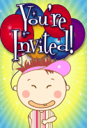 Kid with Grin Invitation