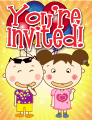 Kids with Grins Small Invitation