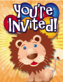 Lion Small Invitation