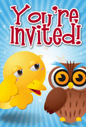 Owl Invitation