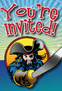 Pirate Sword Invitation