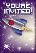 Rocket Ship Invitation