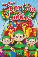 Christmas Santa Elves Invitation