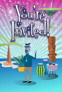 Tiki Beatnik Invitation
