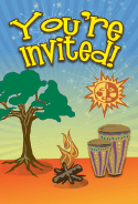 Tribal Drums Invitation