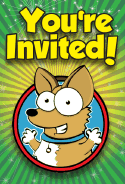 Wide Eye Dog Invitation