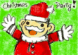 Christmas Party Invitation with Santa (small)
