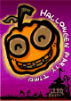 Halloween Party Invitation with Haunted Pumpkin (small)