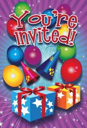 Birthday Presents Invitation