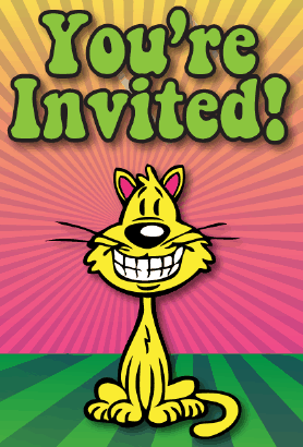 Cat Grin Invitation