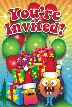 Christmas Monsters Invitation