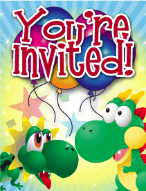 Dragons Small Invitation