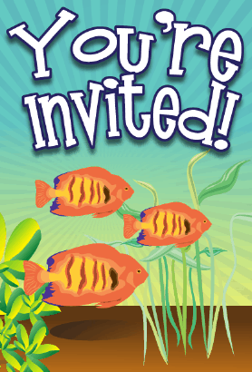 Goldfish Invitation