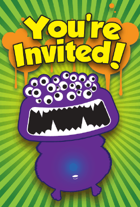 Halloween Monster Invitation