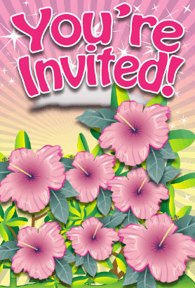 Hibiscus Flower Invitation