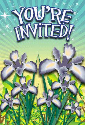 Iris Flower Invitation