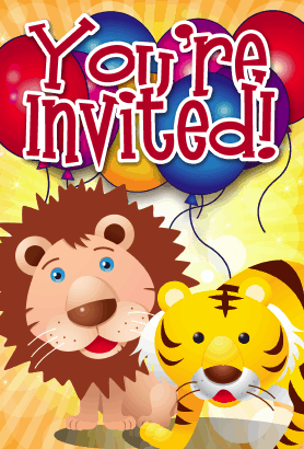 Lion Tiger Invitation