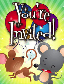 Mice Small Invitation