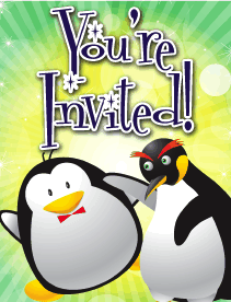 Penguins Small Invitation