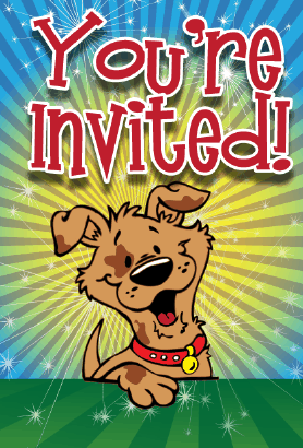 Puppy Collar Invitation