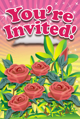 Rose Flower Invitation