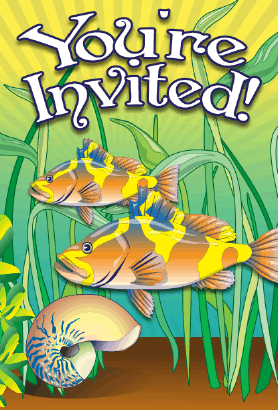 Sea Bass Snail Invitation