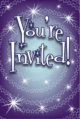 Space Stars Invitation