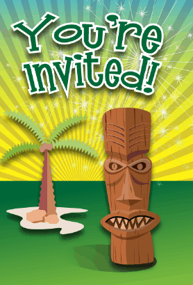 Tiki Invitation