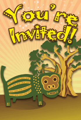 Tribal Animal Invitation