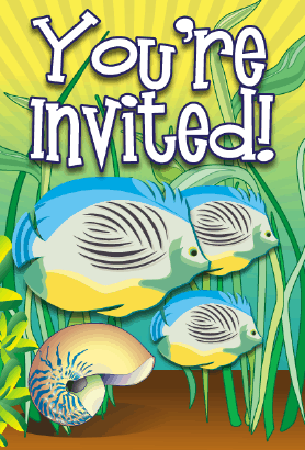 Tropical Fish Invitation