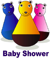 Baby Shower Invitation with Bear Toys (small)