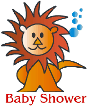 Baby Shower Invitation with Lion (small)