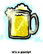 Party Invitation with Beer in a Mug (small)