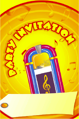 Party Invitation with Jukebox