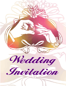Wedding Invitation with Rings (small)